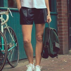 """Lululemon &Go """"Leather"""" Look Shorts"""